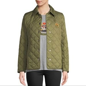 Burberry London Frinton Quilted Crest Coat Jacket